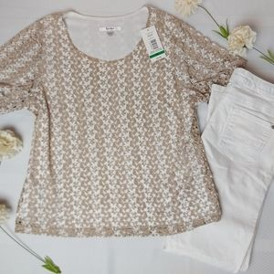 🌼3/$30 TanJay NWT Shimmery Top Large Petite